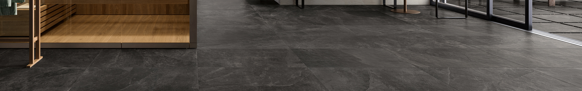 Slate Riven Black Paving Primaporcelain