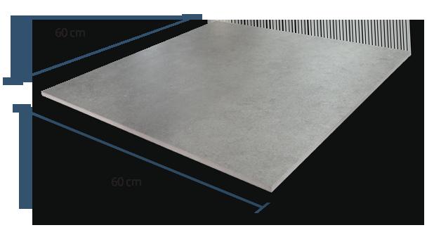 10mm Concrete Greige Dimensions