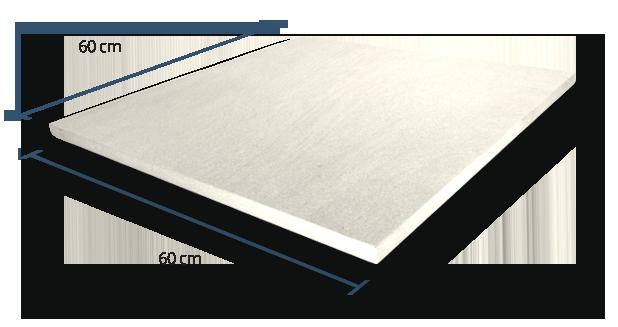 20mm Fusionstone White Dimensions