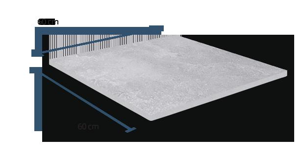 20mm Limestone Grey Dimensions