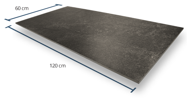 10mm Luxstone Anthracite Dimensions