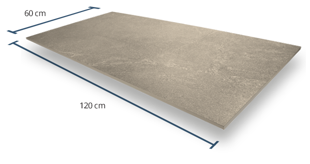 10mm Luxstone Greige Dimensions