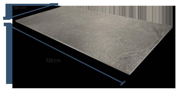 10mm Luxstone Grey Dimensions
