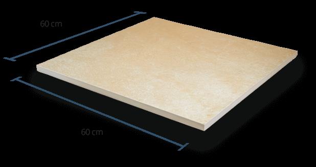 20mm Richmond Cream Dimensions