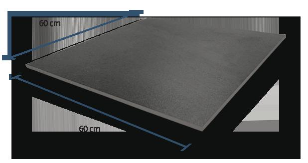 10mm Sandstone Black Dimensions