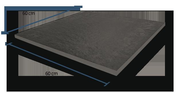 20mm Sandstone Black Dimensions