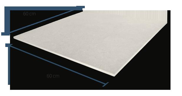 10mm Sandstone White Dimensions