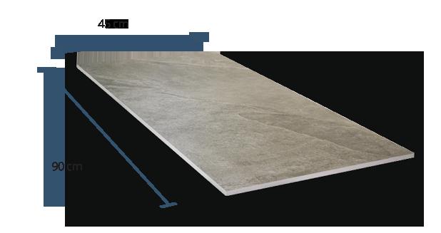 10mm Slate Grey Dimensions