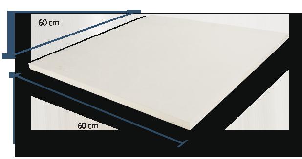 20mm Slate Riven White Dimensions