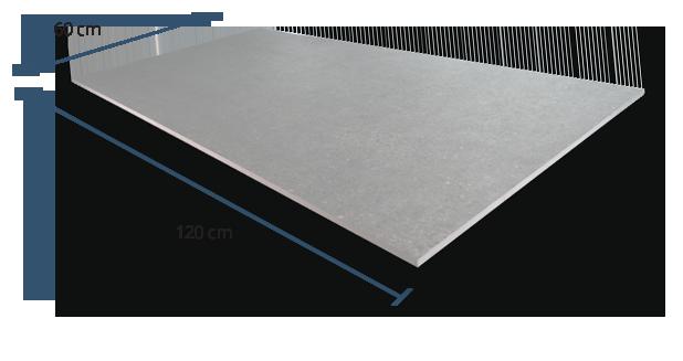 10mm Turin Grey Dimensions