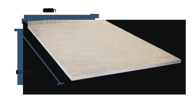 20mm Verona Sand Dimensions