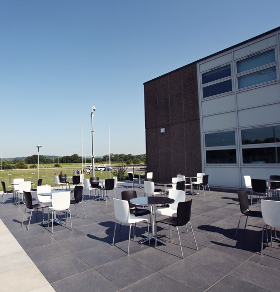 Cowbridge Comprehensive patio area