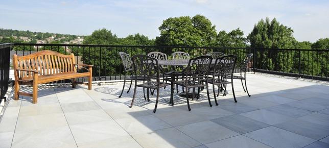 Roof terrace tiles