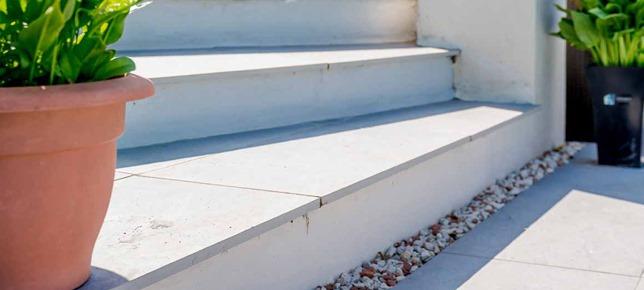 Slate Silver Steps