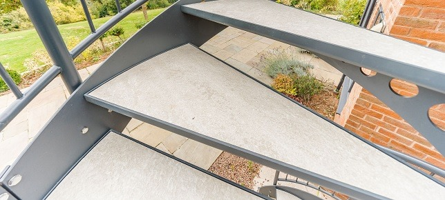 Steps to Outdoor Terrace