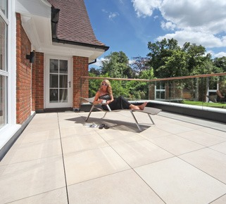 Oxshott balcony paving