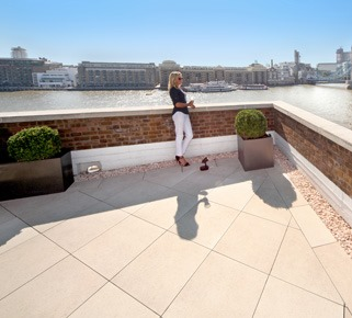 London roof terrace paving