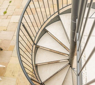 Spiral Stairs Outdoors