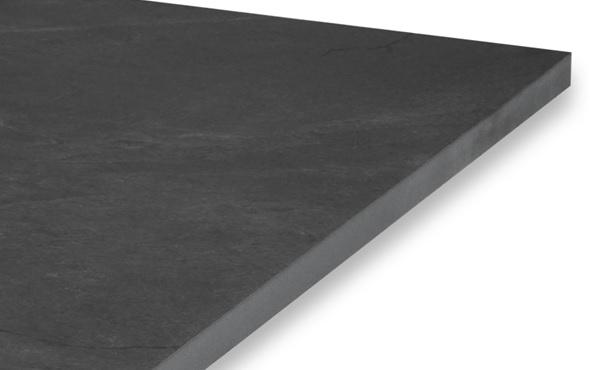 black porcelain slab