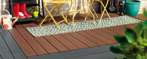 Garden decking, assorted colours