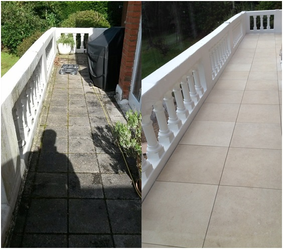 Berkshire Balcony Flooring - Before and After