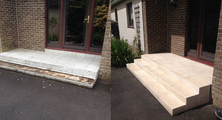 Garden Steps - Before and After